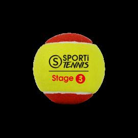 SACHET DE 3 BALLES DE TENNIS STAGE 3