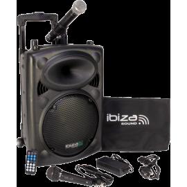 """SONO PORTABLE AUTONOME 10""""/25CM AVEC USB-MP3, REC, VOX, BLUETOOTH, 1 MICRO VHF & 1 MICRO FILAIRE"""
